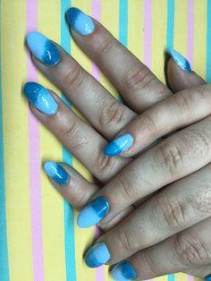 Refill gel with nail polish ombré