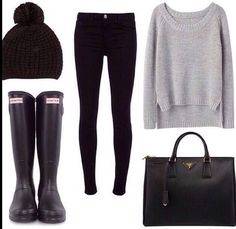 This outfit is perfect for cold and rainy days .. And yet cute.