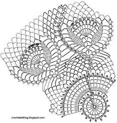 Crochet Art: Lace Doily - Crochet Doily Using White Cotton Yarns - Free Pattern