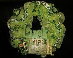 st patricks mesh wreath   mesh wreaths
