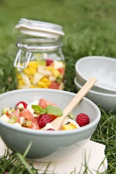 #picnic #fruitsalad   Dille & Kamille