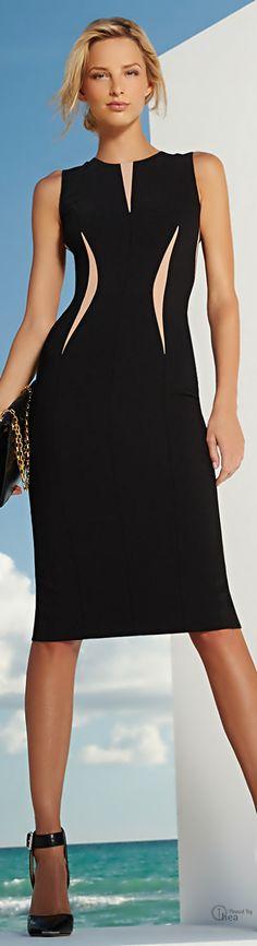Michael Kors ● Contrast-Slit Crepe Dress V Michael Kors Handbags Outlet, Cheap Michael Kors, Mk Handbags, Cheap Handbags, Cheap Bags, Look Fashion, Runway Fashion, Womens Fashion, Fashion Trends