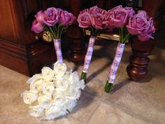 White and lavender bouquets by V