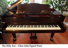 Lovely Grand Piano Billy Joel and  Elton John signed by both of them http://pinterest.com/cameronpiano.
