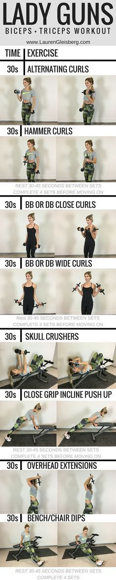Grab your dumbbells for this effective strengthening workout. These u… Lady Guns! Grab your dumbbells for this effective strengthening workout. These upper body exercises are great to add to your fitness routine for a lean and sculpted look. Sport Fitness, Body Fitness, Fitness Diet, Health Fitness, Ladies Fitness, Fitness Shirts, Health Goals, Gym Workouts, At Home Workouts
