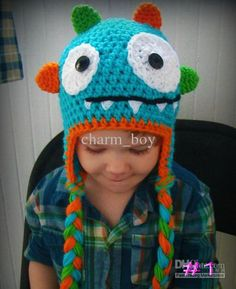 Wholesale Baby Shoes - Buy Crochet Baby Caps Infant Auricles Monster Hat Photography Props,100% Handmade Cotton Custom /l, $6.39 | DHgate