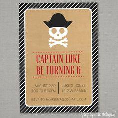 Pirate Birthday Party Invitation por greysquare en Etsy