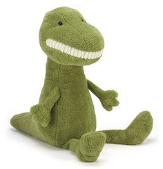 Jellycat's Toothy T-Rex welcomes dino pals to the annual Jurassic picnic! Green but not mean, he's a friendly, fleecy soft fellow who loves to play in mud and volcanoes with his friends! Despite his b