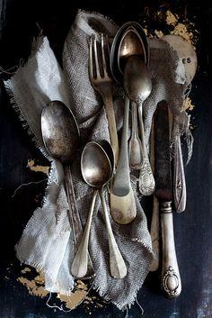 beautiful old English silver