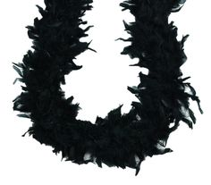 Designed to be a heavyweight add-on, this black chandelle boa is made of small turkey feathers that make the boa brim with luxury. Cheap Craft Supplies, Wholesale Craft Supplies, Craft Supplies Online, Party Supplies, Burlap Ribbon Crafts, Turkey Feathers, Black Party, Black Feathers, Photo Booth Props
