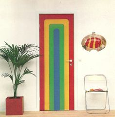 Vintage Home Decorating 1970s Doors 12