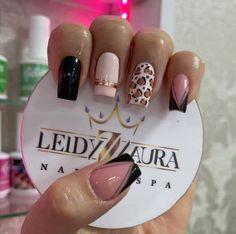 Leopard Print Nails, Short Nail Designs, Jamberry Nails, Nail Spa, Nail Arts, Short Nails, Beauty Nails, Cute Nails, Pedicure
