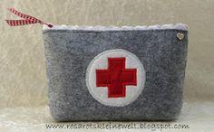 Erste Hilfe - Tasche aus Filz