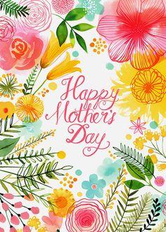 Margaret Berg Art: Pastel+Floral+Mother's+Day