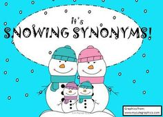 $Three fun winter themed synonym games to play in your class. Synonym Bingo (with 8 different cards), Synonym I Have... Who Has?, and Synonym Memory. In both black and white and color.