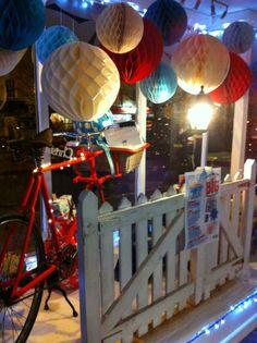 Xmas window display at Daisy Park