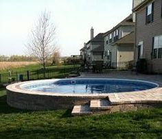 above ground pool on slope - Google Search