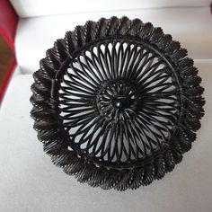 BERLIN IRON SILESIAN WIRE WORK BROOCH 18s  - Fine Jewelry
