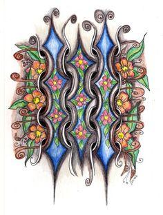 Doodled Art: Love the flowers