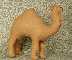Miniature Soft Sculpture Camel