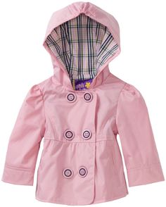 Pink Platinum Baby-girls Infant Button Front Peacoat