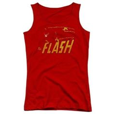 Trevco Dc-Flash Speed Distressed - Juniors Tank Top - Red, Small, Infant Boy's, As Shown