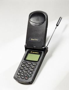 Motarola StarTac...my first phone, that I had to share with my mom.