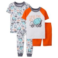 Just One You™ Made by Carter's® Toddler Boys' 4-Piece Mix & Match Truck Pajama Set