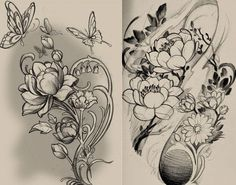 interesting drawing for tatoo sleeve...