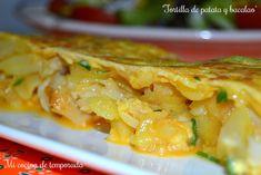 Tortilla de patata y bacalao | Comparterecetas.com
