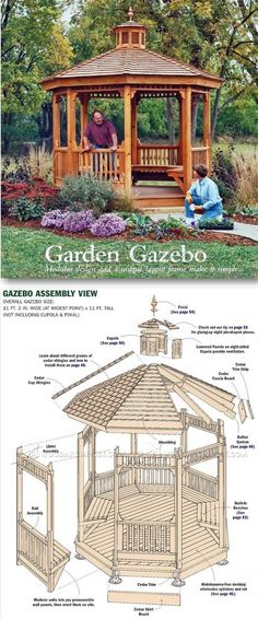 Garden Gazebo Plans - Outdoor Plans and Projects | WoodArchivist.com