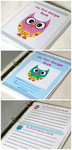 Love this! Recipe Cards for the little one as they grow and learn to cook with you! It even has a sweet dedication page.