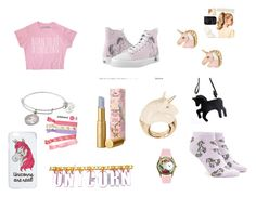 """Unicorn"" by didemm22 on Polyvore featuring Alex and Ani, Too Faced Cosmetics, BIBI VAN DER VELDEN, Miss Selfridge, Trixy Starr, Forever 21, Missguided and Hershesons"