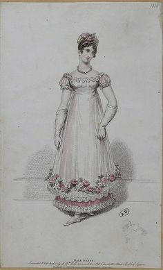 English Regency Ball Dress, from SceneInThePast, much like what Amelia and her friends would have worn Jane Austen, Regency Dress, Regency Era, Ball Dresses, Ball Gowns, Opera Dress, Vintage Outfits, Vintage Fashion, Fashion Illustration Vintage
