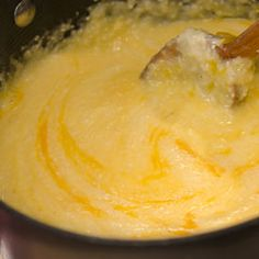 Cheese Grits (QUICK Grits). I just cook grits with water and add american cheese and garlic salt.  So good! I could eat cheesy grits everyday.  I swear I should be a southern girl.