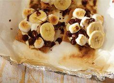 Banana and Cream cheese s'mores <3