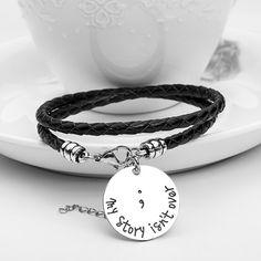 Semicolon Hand Stamped Bracelet - Florence Scovel - 1