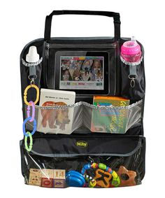 Another great find on #zulily! Black Deluxe Back Seat Car Organizer by Nûby #zulilyfinds