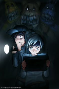 Ruby and Weiss in FNAF 4
