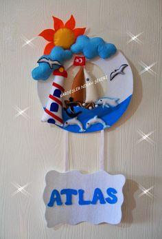 Kardeşler nikah Şekeri.: Keçe denizci kapı süsü (Atlas)