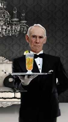 This is Thornton the butler. He is a better parent than either of her real parents, and he's only trying to be a butler.