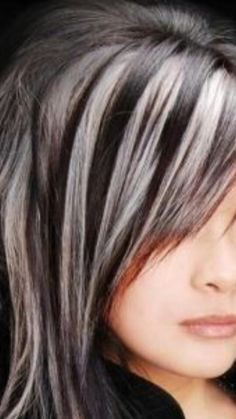 Great way to hide the grey hairs, put silver grey highlights in hair instead