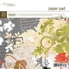 Basic Grey - Scarlet's Letter paper