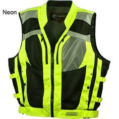 women safety vest   Olympia Vests - Olympia Nova 2 Hi-Viz Safety Mesh Motorcycle Vest