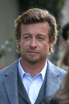 Actor Simon Baker is seen on the 'Place Beauvau' on February 4 2015 in Paris France