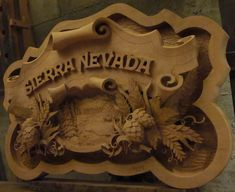 Fantastic relief woodcarving