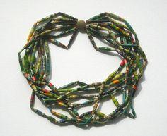 Statement Ketten - Papierperlen-Halskette - ein Designerstück von ticinese bei DaWanda