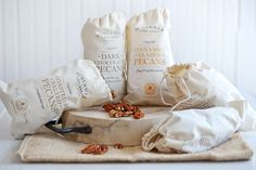 you can transfer images onto the bags for guests to fill with favors or chili lime popcorn