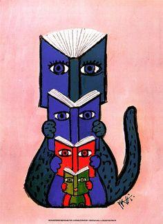 bibliolectors:  (ilustración de Celestino Piatti)