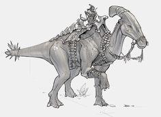 Draw Dinosaurs Dino 2 by Rubisko on DeviantArt - Mythical Creatures Art, Prehistoric Creatures, Fantasy Creatures, Jurassic World Dinosaurs, Jurassic Park World, Dinosaur Drawing, Dinosaur Art, Dinosaur Funny, Extinct Animals